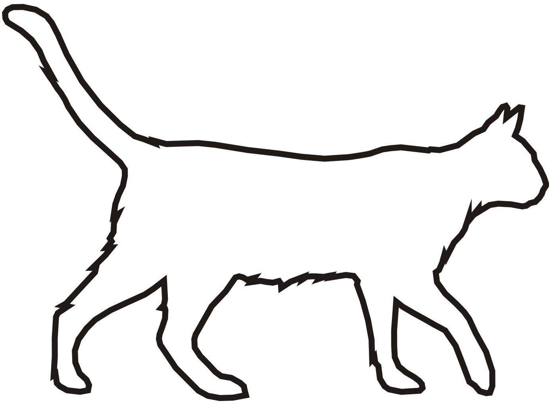 Petfoodshop Aufkleber Katze Umriss Schwarz