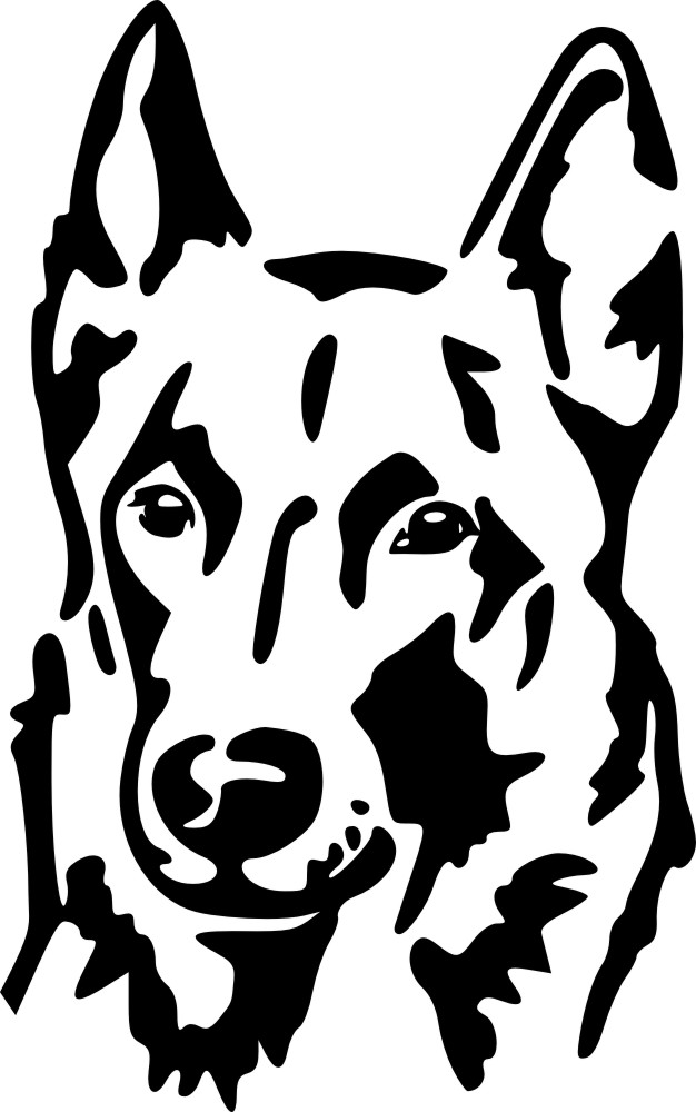 Petfoodshop Malinois Kopf Sticker