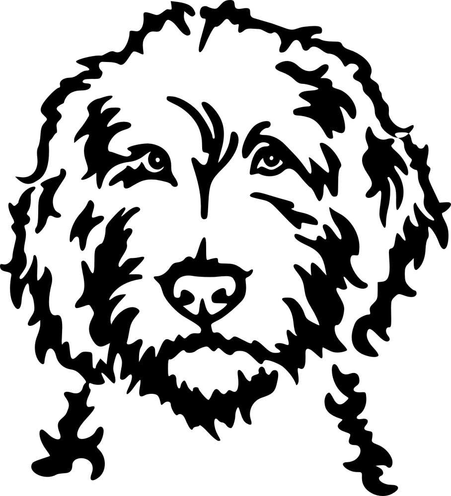 Dog Clipart Black And White Silhouette